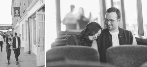South Street Seaport and Brooklyn engagement session captured by NYC wedding photographer Ben Lau.