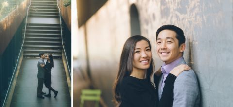 High Line Park engagement session captured by NYC wedding photographer Ben Lau.