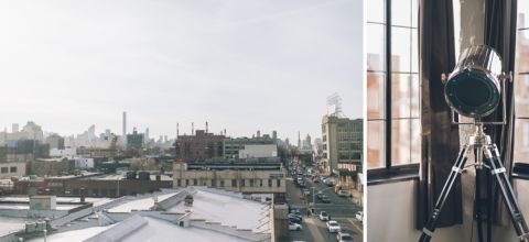 Long Island City engagement session at the Paper Factory Hotel, captured by LIC wedding photographer Ben Lau.
