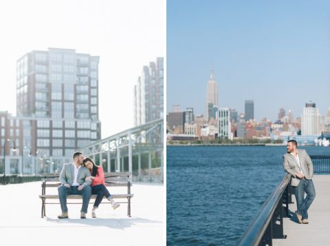 Lauren & Tom's Hoboken engagement session in NJ, captured by North Jersey wedding photographer Ben Lau.