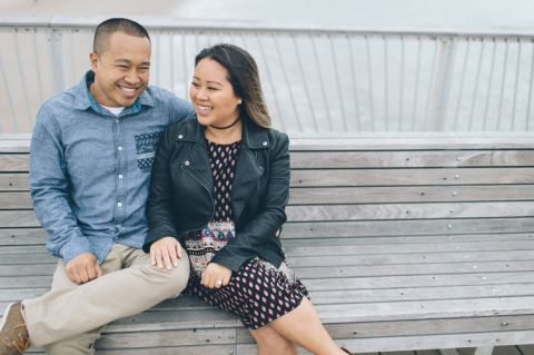 Coney Island engagement session in Brooklyn, NY, captured by Brooklyn wedding photographer Ben Lau.