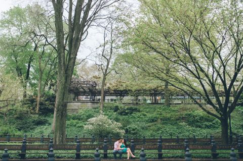 Central Park engagement session and South Street Seaport engagement session in NYC, captured by NYC wedding photographer Ben Lau.