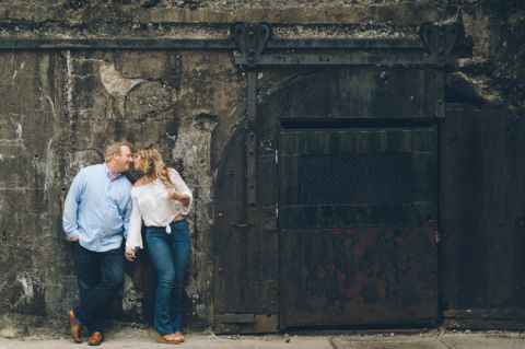 Sandy Hook engagement session along the Jersey Shore, captured by North Jersey wedding photographer Ben Lau.