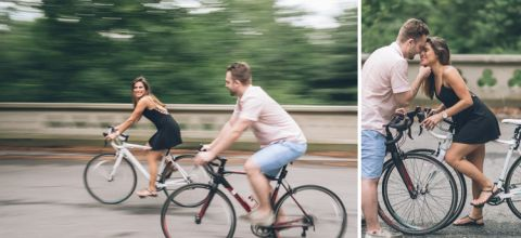 Prospect Park engagement session in Brooklyn, NY - captured by Brooklyn wedding photographer Ben Lau.