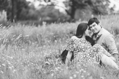 Willowwood Arboretum engagement session in Bedminster, NJ - captured by North Jersey wedding photographer Ben Lau.