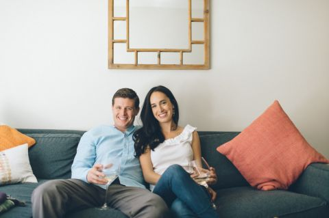 Contemporary Hoboken engagement session captured by North Jersey wedding photographer Ben Lau.