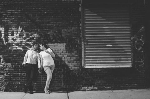 Hoboken engagement session captured by NJ wedding photographer Ben Lau.