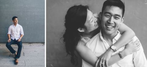 Fun NYC engagement session in Meatpacking and Central Park, captured by fun NYC wedding photographer Ben Lau.