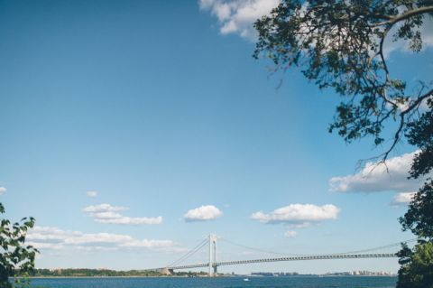 Verrazano Bridge engagement session in Brooklyn and Staten Island, captured by NYC wedding photographer Ben Lau.