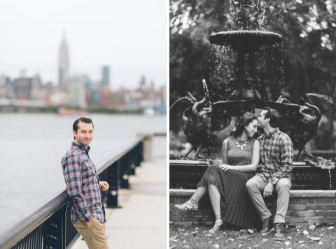 Hoboken engagement session in NJ, captured by Hoboken wedding photographer Ben Lau.