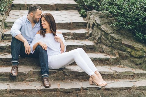Central Park engagement session in NYC, captured by photojournalistic NYC wedding photographer Ben Lau.
