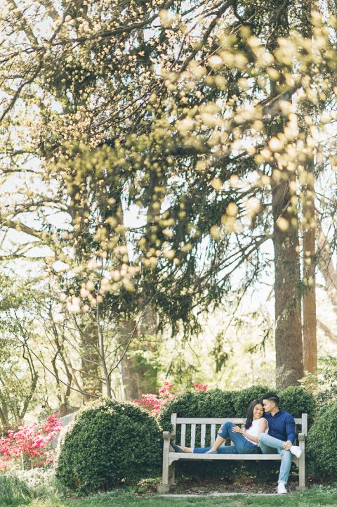NJ Botanical Garden engagement session in Northern Jersey, captured by photojournalistic NJ wedding photographer Ben Lau.