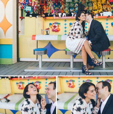 Jersey Shore engagement session in Point Pleasant, captured by North Jersey wedding photographer Ben Lau.