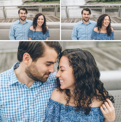 Long Island City engagement session in NYC, captured by photojournalistic wedding photographer Ben Lau.