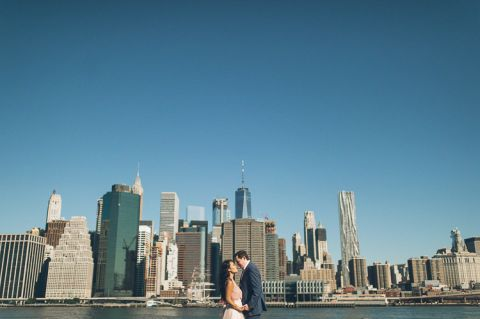 Brooklyn engagement session in DUMBO, captured by North Jersey wedding photographer Ben Lau.