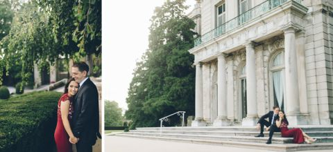 Monmouth University and Red Bank Engagement session captured by photojournalistic Central Jersey wedding photographer Ben Lau.