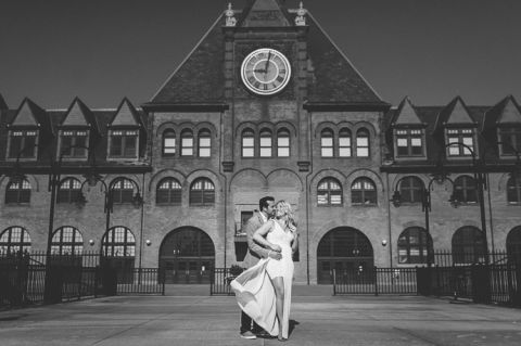 Jersey City engagement session at Liberty State Park, captured by North Jersey wedding photographer Ben Lau.