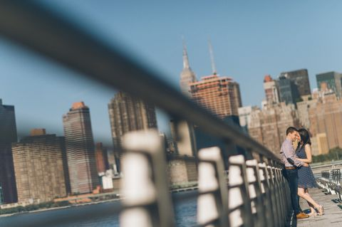 Long Island City engagement session in NYC, captured by NYC wedding photographer Ben Lau.