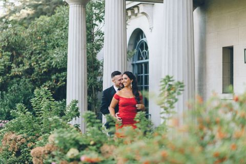 Van Vleck House engagement session in Montclair, NJ, captured by photo-documentary North Jersey wedding photographer Ben Lau.