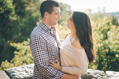Fort Tryon Park engagement session in NYC, captured by NYC wedding photographer Ben Lau.