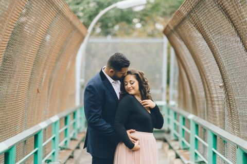 Fort Tryon engagement session in New York City, captured by fun NYC wedding photographer Ben Lau.