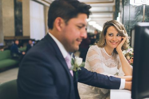 NYC City Hall wedding, captured by NYC city hall wedding and elopements photographer Ben Lau.
