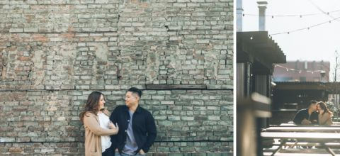 Jersey City engagement session captured by North Jersey wedding photographer Ben Lau.