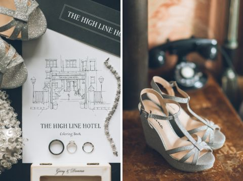 Elegant wedding at The High Line Hotel in New York City, captured by photojournalistic NYC wedding photographer Ben Lau.