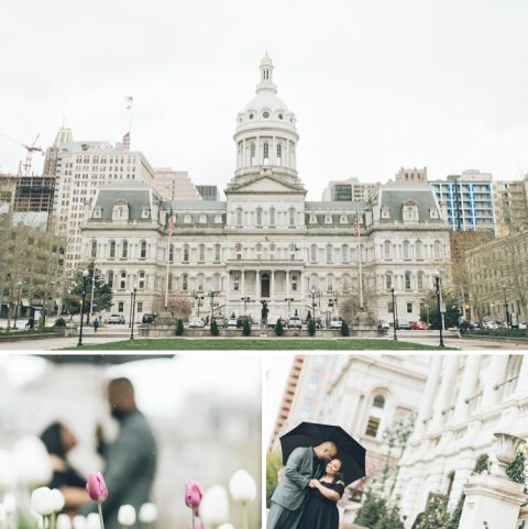 Baltimore engagement session captured by Baltimore wedding photographer Ben Lau.