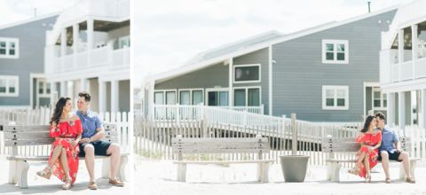 Lavalette engagement session down the Jersey Shore, captured by Central Jersey wedding photographer Ben Lau.