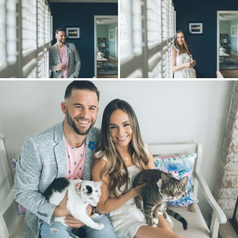 Jersey Shore engagement session in Asbury Park and Seaside Heights, captured by fun Central Jersey wedding photographer Ben Lau.
