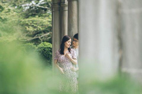 Planting Fields Arboretum engagement session in Long Island, captured by NYC wedding photographer Ben Lau.
