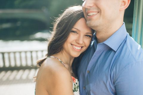 Prospect Park & Coney Island engagement session in Brooklyn, captured by NYC wedding photographer Ben Lau.
