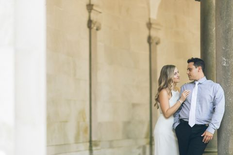 Fun & Romantic Monmouth University engagement session captured by Central Jersey photojournalistic wedding photographer Ben Lau.