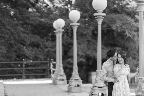 Brooklyn engagement session by NYC wedding photographer Ben Lau.