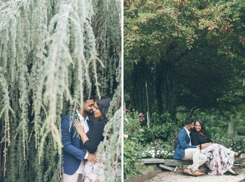 Planting Fields arboretum engagement session in Long Island - captured by photojournalistic NYC wedding photographer Ben Lau.