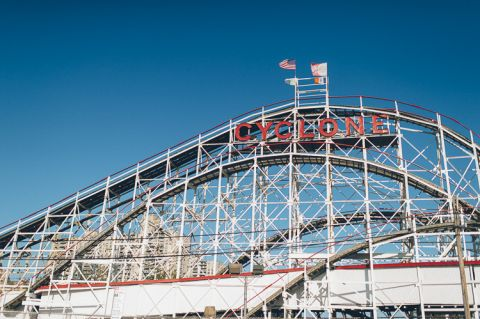 Brooklyn engagement session in Prospect Park and Coney Island, captured by Brooklyn wedding photographer Ben Lau.