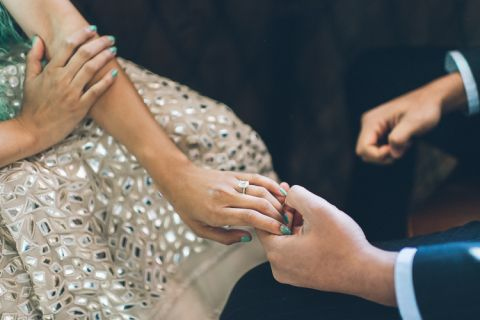New York City engagement session with editorial NYC wedding photographer Ben lau.
