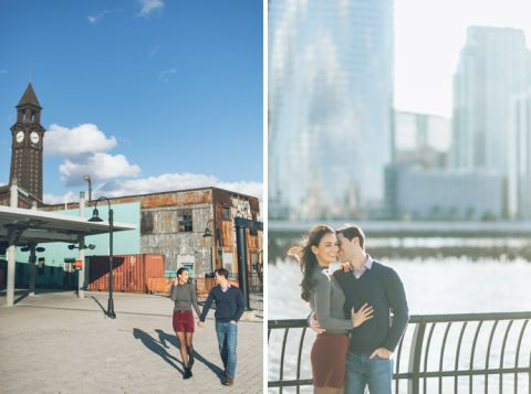 Hoboken engagement session captured by fun North Jersey wedding photographer Ben Lau.