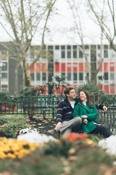 Hoboken engagement session, captured by North Jersey wedding photographer Ben Lau.