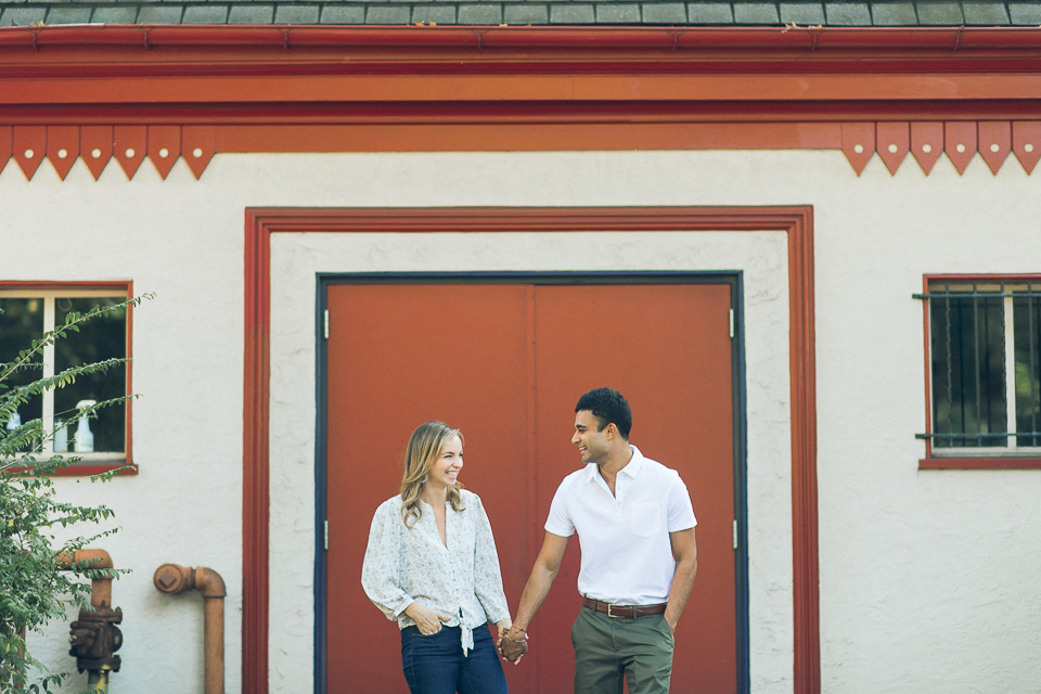 Philadelphia engagement session at the Fairmount Water Works, captured by NJ wedding photographer Ben Lau.