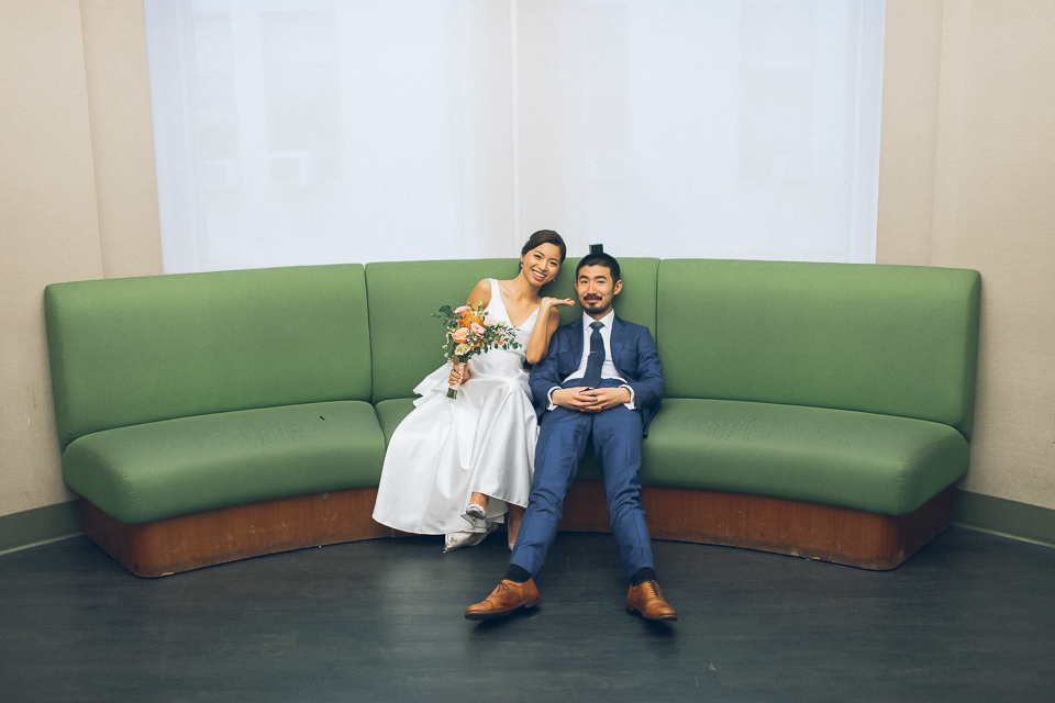 Civil Ceremony at the NYC Marriage Bureau, captured by fun NYC wedding & elopement photographer Ben Lau.