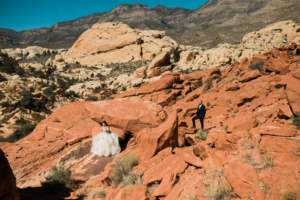 Nevada Desert Adventure Elopement & Wedding photos, captured by adventure elopement and wedding photographer Ben Lau.
