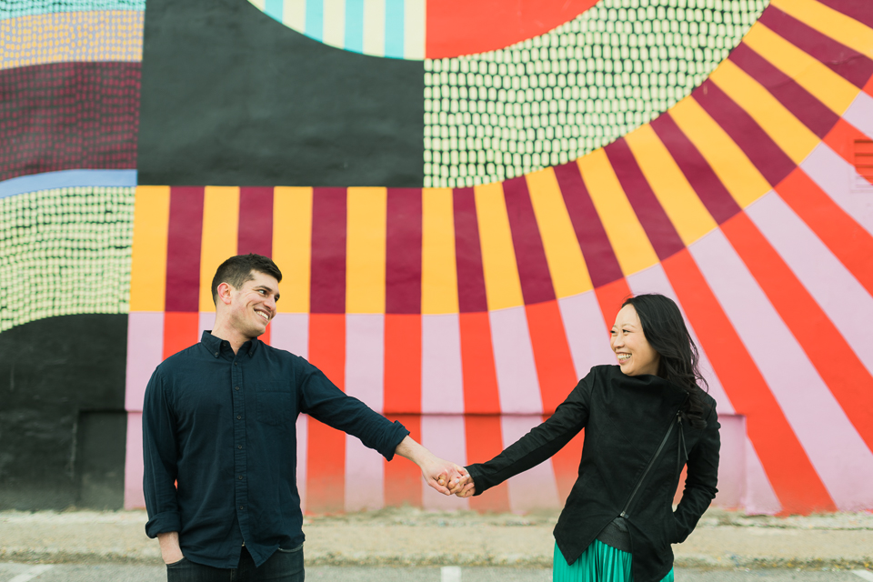 Philadelphia engagement session captured by fun, candid Philadelphia wedding photographer Ben Lau.